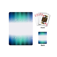 Blue Stripe With Water Droplets Playing Cards (Mini)