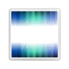 Blue Stripe With Water Droplets Memory Card Reader (square)