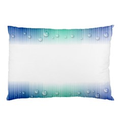 Blue Stripe With Water Droplets Pillow Case (Two Sides)