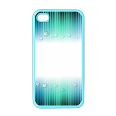 Blue Stripe With Water Droplets Apple Iphone 4 Case (color)