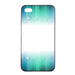 Blue Stripe With Water Droplets Apple Iphone 4/4s Seamless Case (black)