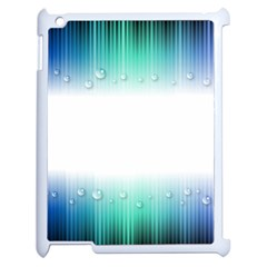 Blue Stripe With Water Droplets Apple Ipad 2 Case (white)