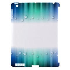 Blue Stripe With Water Droplets Apple Ipad 3/4 Hardshell Case (compatible With Smart Cover)