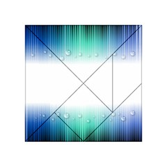 Blue Stripe With Water Droplets Acrylic Tangram Puzzle (4  X 4 )