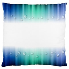 Blue Stripe With Water Droplets Large Cushion Case (One Side)