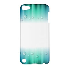 Blue Stripe With Water Droplets Apple Ipod Touch 5 Hardshell Case