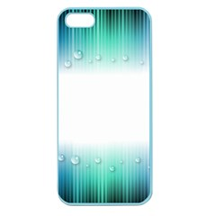 Blue Stripe With Water Droplets Apple Seamless Iphone 5 Case (color)