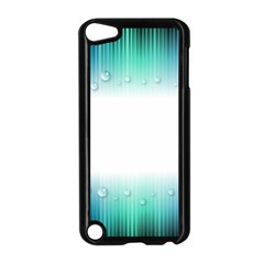 Blue Stripe With Water Droplets Apple Ipod Touch 5 Case (black)