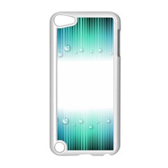 Blue Stripe With Water Droplets Apple iPod Touch 5 Case (White)