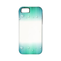 Blue Stripe With Water Droplets Apple iPhone 5 Classic Hardshell Case (PC+Silicone)