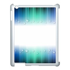 Blue Stripe With Water Droplets Apple Ipad 3/4 Case (white)