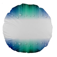 Blue Stripe With Water Droplets Large 18  Premium Round Cushions