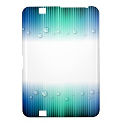 Blue Stripe With Water Droplets Kindle Fire HD 8.9