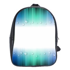 Blue Stripe With Water Droplets School Bags (XL)