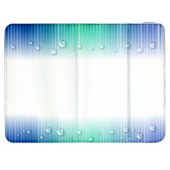 Blue Stripe With Water Droplets Samsung Galaxy Tab 7  P1000 Flip Case