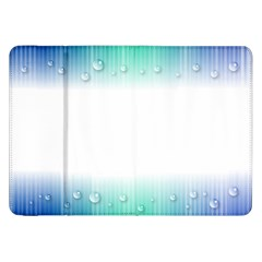 Blue Stripe With Water Droplets Samsung Galaxy Tab 8.9  P7300 Flip Case