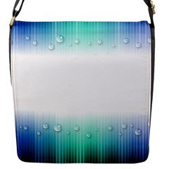 Blue Stripe With Water Droplets Flap Messenger Bag (s)