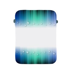 Blue Stripe With Water Droplets Apple Ipad 2/3/4 Protective Soft Cases