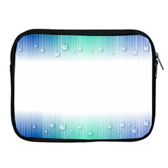 Blue Stripe With Water Droplets Apple iPad 2/3/4 Zipper Cases
