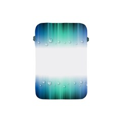 Blue Stripe With Water Droplets Apple iPad Mini Protective Soft Cases