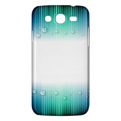 Blue Stripe With Water Droplets Samsung Galaxy Mega 5.8 I9152 Hardshell Case