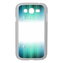 Blue Stripe With Water Droplets Samsung Galaxy Grand Duos I9082 Case (white)