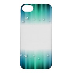 Blue Stripe With Water Droplets Apple Iphone 5s/ Se Hardshell Case