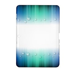 Blue Stripe With Water Droplets Samsung Galaxy Tab 2 (10.1 ) P5100 Hardshell Case