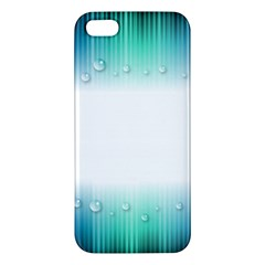 Blue Stripe With Water Droplets iPhone 5S/ SE Premium Hardshell Case