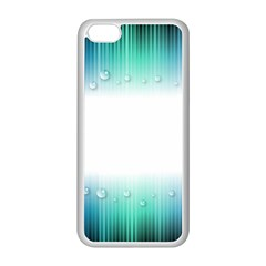 Blue Stripe With Water Droplets Apple iPhone 5C Seamless Case (White)