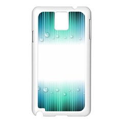 Blue Stripe With Water Droplets Samsung Galaxy Note 3 N9005 Case (white)
