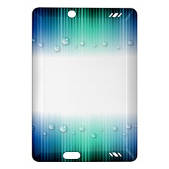 Blue Stripe With Water Droplets Amazon Kindle Fire Hd (2013) Hardshell Case
