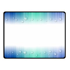 Blue Stripe With Water Droplets Double Sided Fleece Blanket (small)