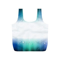 Blue Stripe With Water Droplets Full Print Recycle Bags (s)