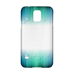 Blue Stripe With Water Droplets Samsung Galaxy S5 Hardshell Case