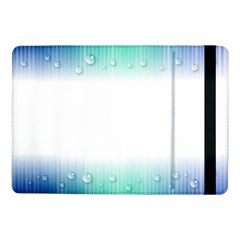 Blue Stripe With Water Droplets Samsung Galaxy Tab Pro 10 1  Flip Case