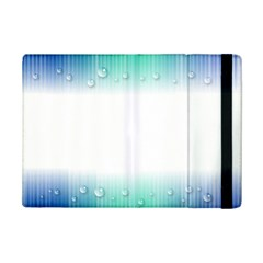 Blue Stripe With Water Droplets iPad Mini 2 Flip Cases