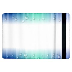 Blue Stripe With Water Droplets Ipad Air Flip