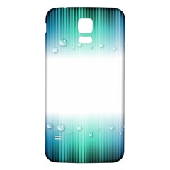 Blue Stripe With Water Droplets Samsung Galaxy S5 Back Case (White)