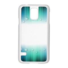 Blue Stripe With Water Droplets Samsung Galaxy S5 Case (white)