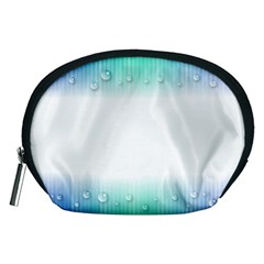 Blue Stripe With Water Droplets Accessory Pouches (medium)