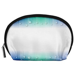 Blue Stripe With Water Droplets Accessory Pouches (Large)