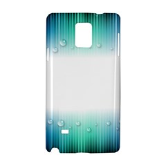 Blue Stripe With Water Droplets Samsung Galaxy Note 4 Hardshell Case