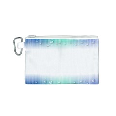 Blue Stripe With Water Droplets Canvas Cosmetic Bag (s)