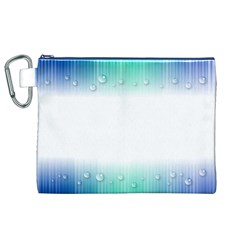 Blue Stripe With Water Droplets Canvas Cosmetic Bag (xl)