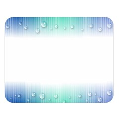 Blue Stripe With Water Droplets Double Sided Flano Blanket (Large)