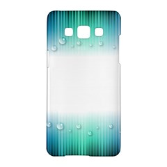 Blue Stripe With Water Droplets Samsung Galaxy A5 Hardshell Case