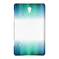 Blue Stripe With Water Droplets Samsung Galaxy Tab S (8.4 ) Hardshell Case