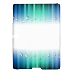 Blue Stripe With Water Droplets Samsung Galaxy Tab S (10.5 ) Hardshell Case