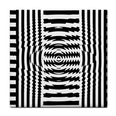 Black And White Abstract Stripped Geometric Background Tile Coasters